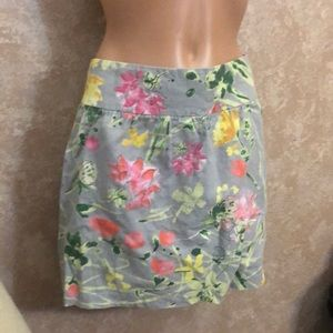 OLD NAVY Gray and Floral Skirt